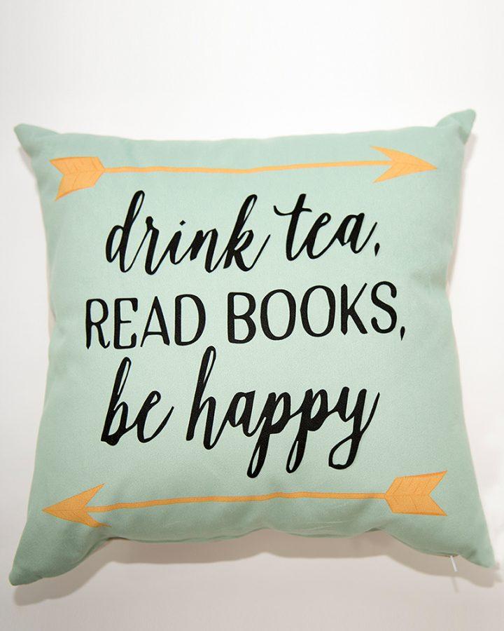 pernuta drink tea read books be happy